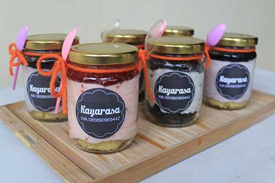 cheese cake in the jar